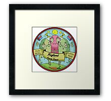 Nogland - Patch Framed Print