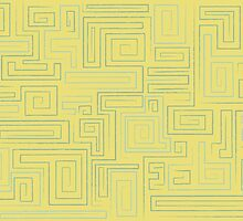 Retro Maze Pattern by westarborstudio