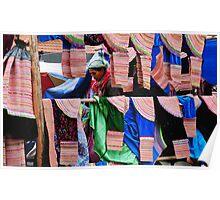 Skirt Seller at Bac Ha Market Poster