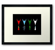 Know Your Dragon - Fire, Electric, Gas, Ice Framed Print