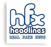 HFX Headlines - Pretend To Wear The Truth Canvas Print