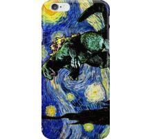 Godzilla versus Starry Night iPhone Case/Skin