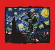 Godzilla versus Starry Night Kids Tee