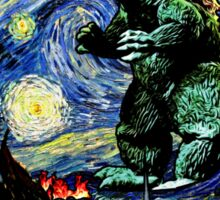 Godzilla versus Starry Night Sticker