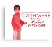 Cashmere Velvet Candy Cane Canvas Print