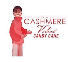 Cashmere Velvet Candy Cane Photographic Print