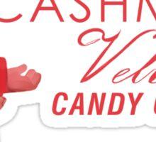 Cashmere Velvet Candy Cane Sticker