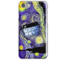 The Tardis in the Starry Night iPhone Case/Skin