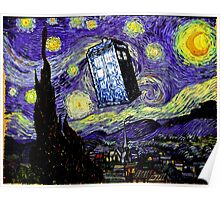 The Tardis in the Starry Night Poster