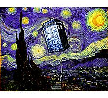 The Tardis in the Starry Night Photographic Print
