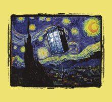 The Tardis in the Starry Night Kids Tee