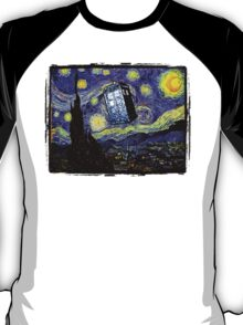 The Tardis in the Starry Night T-Shirt