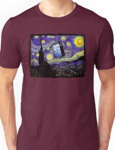 The Tardis in the Starry Night Unisex T-Shirt