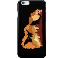 Godzilla versus Mothra cityscape iPhone Case/Skin