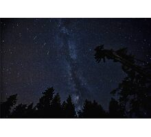 Milky Way Galaxy, Night-Time Stars - HD Photograph Photographic Print