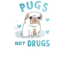 love pug not drugs Photographic Print