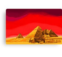 Pyramids of Giza in Summer Canvas Print