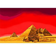 Pyramids of Giza in Summer Photographic Print