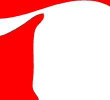 Devil (red print) Sticker