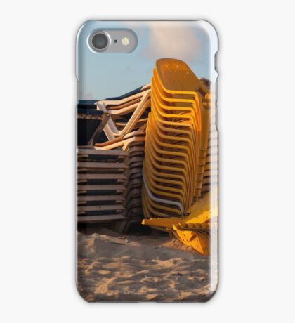beach chairs iPhone Case/Skin