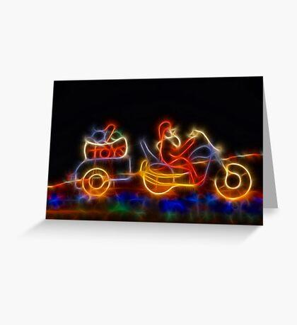 Santa on  Motorbike Greeting Card