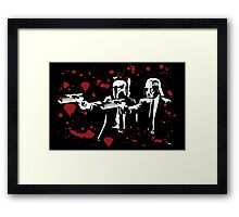 "Darth Vader - Say ""What"" Again! Version 1 (Blood Splatter) Framed Print"