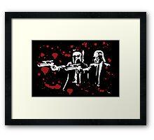 """Darth Vader - Say """"What"""" Again! Version 1 (Blood Splatter) Framed Print"""
