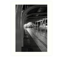 Melbourne at night - St.Kilda rd bus terminal Art Print