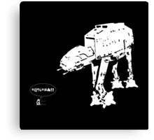 R2D2 - RUN! AT-AT Version Canvas Print