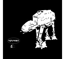 R2D2 - RUN! AT-AT Version Photographic Print