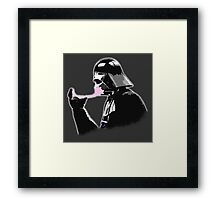 Popped Bubblegum bubble - Vader Style Framed Print