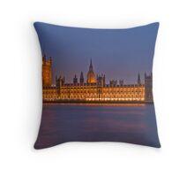 Parliament under Floodlight Throw Pillow