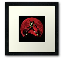 Neon Genesis Evangelion Unit 01 - Hill Top Framed Print
