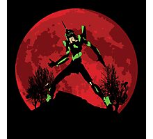Neon Genesis Evangelion Unit 01 - Hill Top Photographic Print