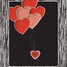 Heart Balloons by Fern Design