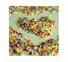 Sprinkles Heart Art Print