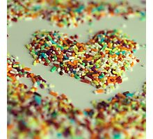 Sprinkles Heart Photographic Print