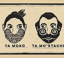 Ta moko Ta mostache by deepfriedkiwi