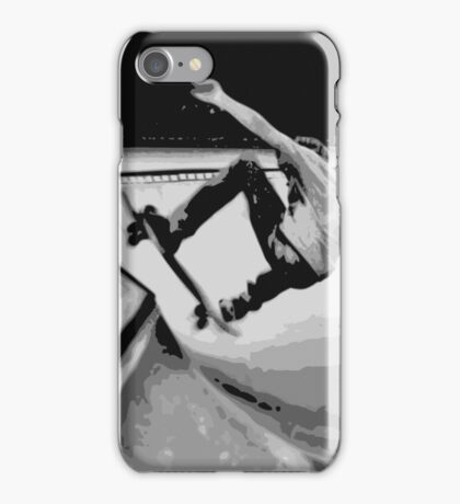 Skating the bowl, again, B&W iPhone Case/Skin