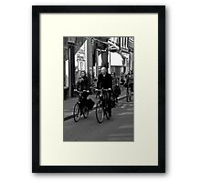 public transport Framed Print