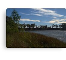 A rippled murray river Canvas Print