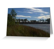 A rippled murray river Greeting Card