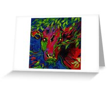 Colourful cow! Greeting Card