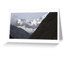 An Incan View Greeting Card