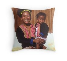 Smiling Lady of Hmong Tribe Throw Pillow