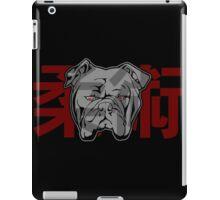 Jiu Jitsu Bulldog (transparent) iPad Case/Skin