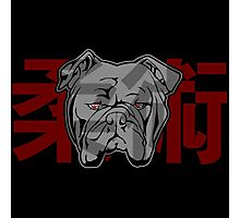 Jiu Jitsu Bulldog (transparent) Photographic Print