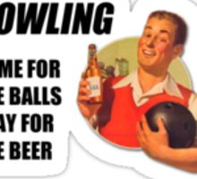 Bowling Beer Frame Sticker