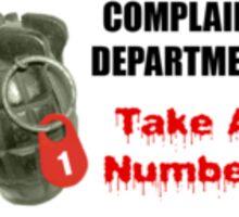 Complaint Department Sticker