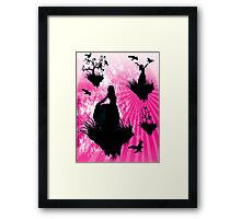 Raven Ladies in Pink Framed Print